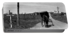 1920s 1930s Amish Man Driving Buggy Portable Battery Charger