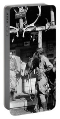 1920s 1930s Couple And Horses In Front Portable Battery Charger