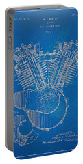 1923 Harley Davidson Engine Patent Artwork - Blueprint Portable Battery Charger