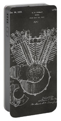 1923 Harley Engine Patent Art - Gray Portable Battery Charger