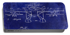 1927 Airplane Patent Drawing Blue Portable Battery Charger