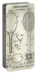 1927 Tennis Racket Patent Drawing  Portable Battery Charger
