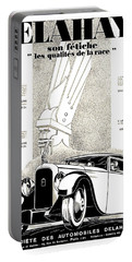 1928 - Delehaye Automobile Advertisement Portable Battery Charger