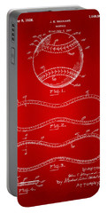 1928 Baseball Patent Artwork Red Portable Battery Charger
