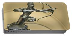 1928 Pierce Arrow Helmeted Archer Hood Ornament Portable Battery Charger