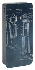 1930 Drink Mixer Patent Blue Portable Battery Charger
