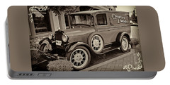 Portable Battery Charger featuring the digital art 1930 Ford Panel Truck by Richard Farrington