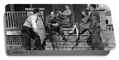 1930s Three Men Courting A Women Portable Battery Charger