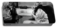 1930s Woman Sneezing Coughing With Cold Portable Battery Charger