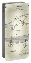 1931 Fish Bait Patent Drawing Portable Battery Charger by Jon Neidert