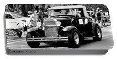 1934 Classic Car In Black And White Portable Battery Charger
