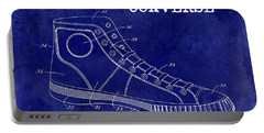 1934 Converse Shoe Patent Drawing Blue Portable Battery Charger