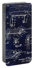 1935 Fishing Lure Patent Blue Portable Battery Charger