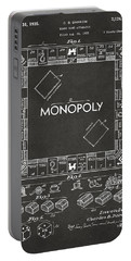1935 Monopoly Game Board Patent Artwork - Gray Portable Battery Charger