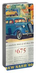 1936 - Nash Sedan Automobile Advertisement - Color Portable Battery Charger