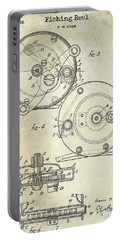 1936 Fishing Reel Patent Drawing Portable Battery Charger