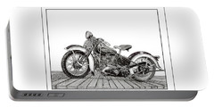 1936 Harley Knucklehead Portable Battery Charger