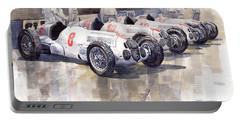 1937 Monaco Gp Team Mercedes Benz W125 Portable Battery Charger