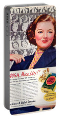 1938 - Lucky Strike Cigarettes Advertising - Myrna Loy - Color Portable Battery Charger