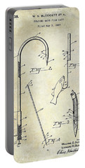 1938 Fishing Gaff Patent Drawing Portable Battery Charger