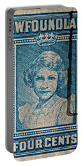 1938 Queen Elizabeth II Newfoundland Stamp Portable Battery Charger