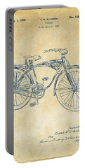 1939 Schwinn Bicycle Patent Artwork Vintage Portable Battery Charger by Nikki Marie Smith
