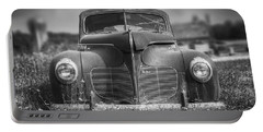 1940 Desoto Deluxe Black And White Portable Battery Charger