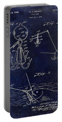 1940 Fishing Gaff Patent Drawing Blue Portable Battery Charger