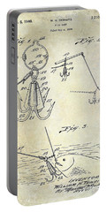 1940 Fishing Gaff Patent Drawing Portable Battery Charger