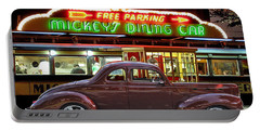 Portable Battery Charger featuring the photograph 1940 Ford Deluxe Coupe At Mickeys Dinner  by Gary Keesler