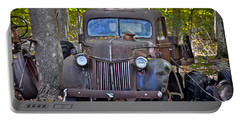 Portable Battery Charger featuring the photograph 1940 Ford Dump Truck by Gary Keesler