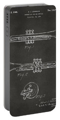 1940 Trumpet Patent Artwork - Gray Portable Battery Charger by Nikki Marie Smith