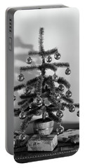 1940s Small Christmas Tree Decorated Portable Battery Charger