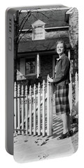 1940s Smiling Pretty Young Teenage Girl Portable Battery Charger