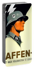 1941 - German Waffen Ss Recruitment Poster - Nazi - Color Portable Battery Charger