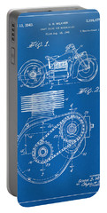 1941 Indian Motorcycle Patent Artwork - Blueprint Portable Battery Charger by Nikki Marie Smith