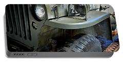 1942 Ford U.s. Army Jeep Ll Portable Battery Charger by Michelle Calkins