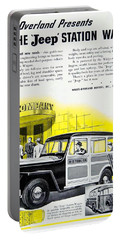 1946 - Willys Overland Jeep Station Wagon Advertisement - Color Portable Battery Charger
