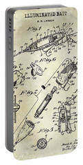 1940 Illuminated Bait Patent Drawing Portable Battery Charger by Jon Neidert