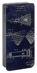 1947 Fishing Net Patent Drawing Blue Portable Battery Charger