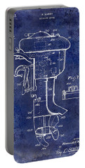 1947 Outboard Motor Patent Drawing Blue Portable Battery Charger by Jon Neidert