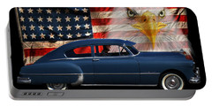 Portable Battery Charger featuring the photograph 1949 Pontiac Tribute Roger by Peter Piatt