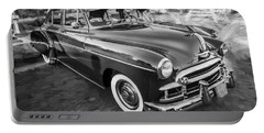 1950 Chevrolet Sedan Deluxe Painted Bw   Portable Battery Charger