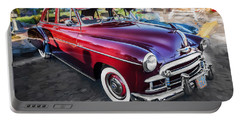 1950 Chevrolet Sedan Deluxe Painted  Portable Battery Charger