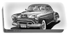 American Car Drawings Portable Battery Chargers