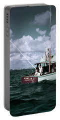 1950s 3 Men On Charter Fishing Boat Portable Battery Charger