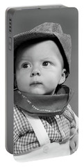 1950s Baby Head & Shoulders Wearing Portable Battery Charger