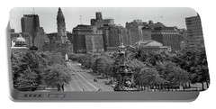 1950s Benjamin Franklin Parkway Looking Portable Battery Charger