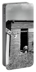 1950s Cocker Spaniel Puppy In Doghouse Portable Battery Charger
