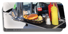 1950's Drive In Movie Snack Tray Portable Battery Charger